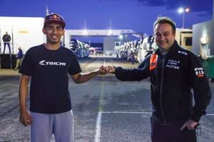 Hafizh Syahrin and RW Racing GP Teammanager Jarno Janssen