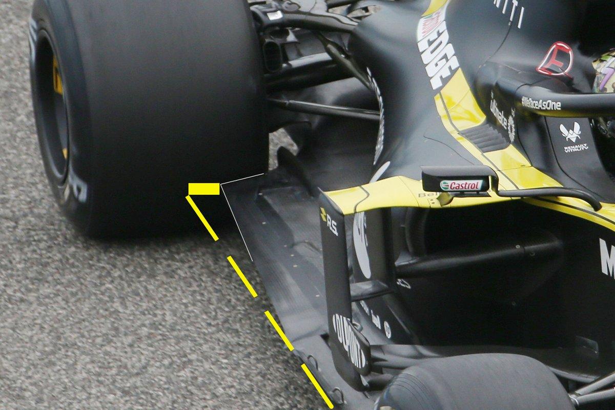 Detalles del piso del Renault F1 Team R.S.20