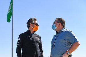 Jamie Reigle, CEO of Formula E, Zak Brown, McLaren