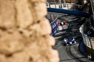 Jake Dennis, BMW I Andretti Motorsport, BMW iFE.21, Lucas Di Grassi, Audi Sport ABT Schaeffler, Audi e-tron FE07