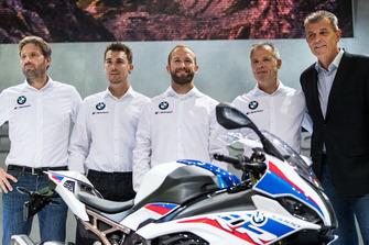Marc Bongers, BMW Motorrad Motorsport Direktor, Markus Reiterberger, Tom Sykes, Shaun Muir, Teamchef, Dr. Markus Schramm, Leiter BMW Motorrad