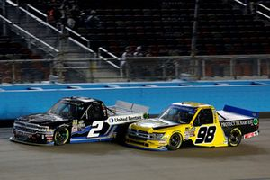 Sheldon Creed, GMS Racing, Chevrolet Silverado United Rentals/AM Ortega, Grant Enfinger, ThorSport Racing, Ford F-150 Protect The Harvest/Curb Records