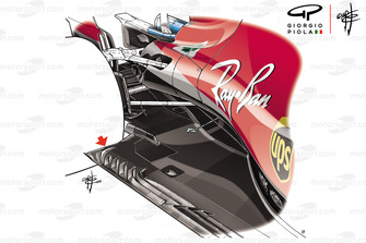 Ferrari SF71H new floor duct, Silvertone