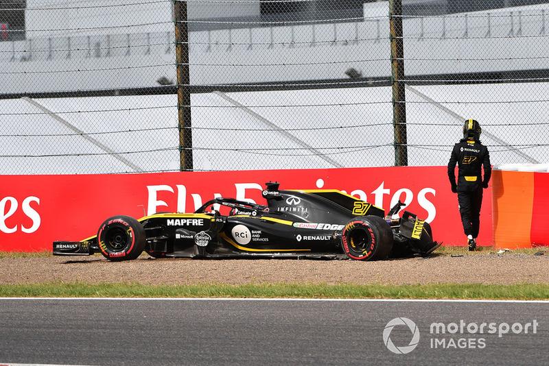 Accident pour Nico Hulkenberg, Renault Sport F1 Team R.S. 18