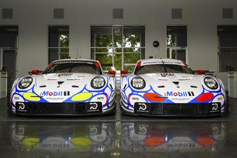 #912 Porsche Team North America Porsche 911 RSR, GTLM: Laurens Vanthoor, Earl Bamber, Mathieu Jaminet, #911 Porsche Team North America Porsche 911 RSR, GTLM: Patrick Pilet, Nick Tandy, Frederic Makowiecki