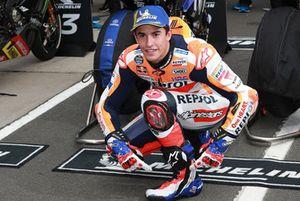 Polesitter Marc Marquez, Repsol Honda Team con Mick Doohan