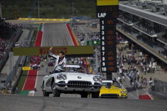 Romain Grosjean, Haas F1 Team tijdens de rijdersparade