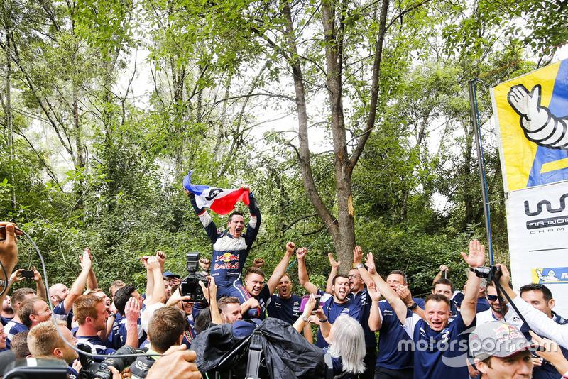 I Campioni 2018 del WRC Sébastien Ogier, Julien Ingrassia, Ford Fiesta WRC, M-Sport Ford
