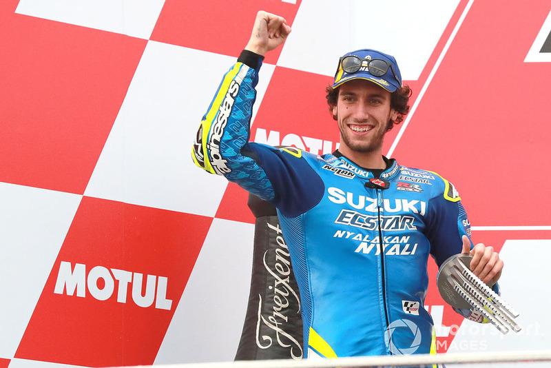 Podio: segundo, Alex Rins, Team Suzuki MotoGP