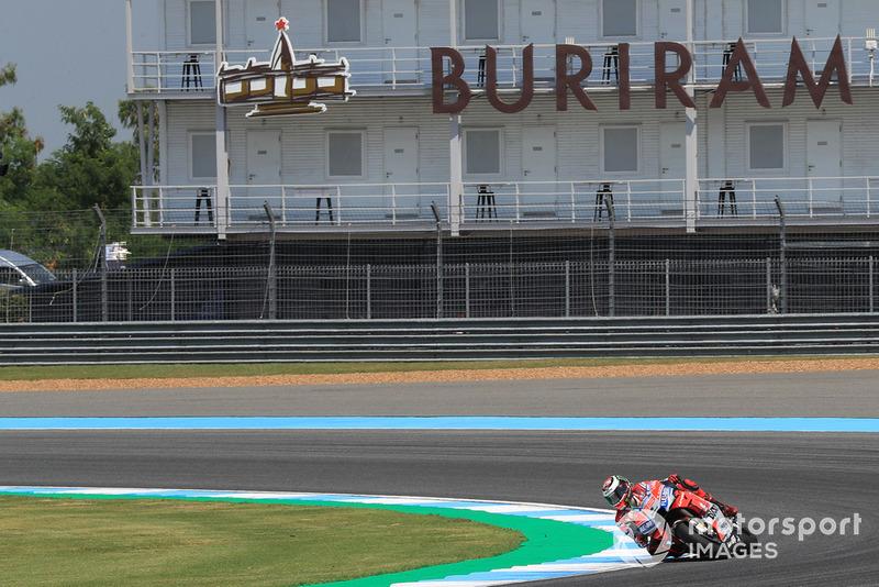 Хорхе Лоренсо, Ducati Team, перша практика Гран Прі Таіланду