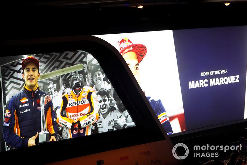 Marc Marquez acepta el Premio al Piloto (moto) del Año vía enlace de video