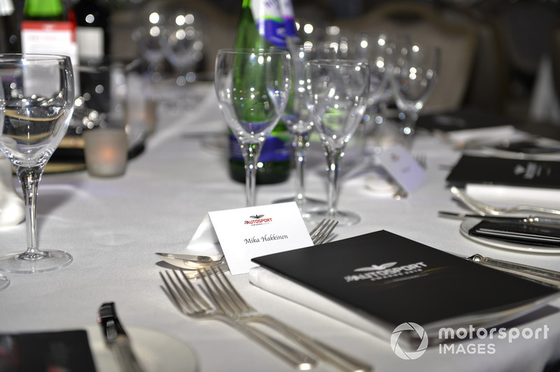 Table setting for Mika Hakkinen