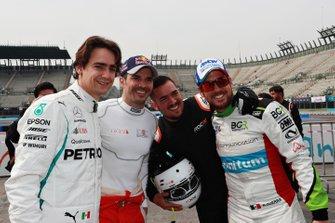 Esteban Gutierrez, Memo Rojas, and Benito Guerra pose for a photo