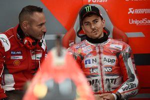 Jorge Lorenzo, Ducati Team, mit Cristian Gabbarini