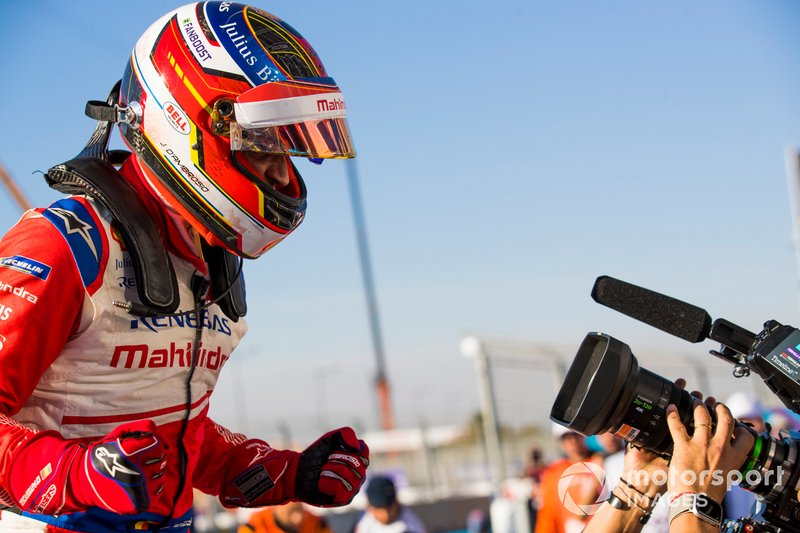Jérôme d'Ambrosio, Mahindra Racing, celebra su victoria