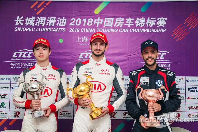 Ye Hong Li, Kia Racing Team China, Alex Fontana, Kia Racing Team China, Rodolfo Avila, SAIC VW333 Racing