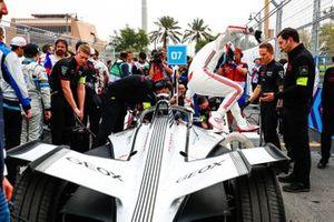 Jose Maria Lopez, GEOX Dragon Racing climbs out of his Penske EV-3