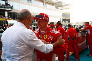 Kimi Raikkonen, Ferrari, sur la grille