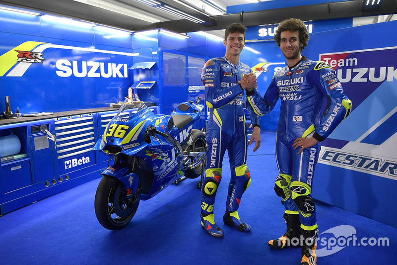 Joan Mir and Alex Rins, Suzuki Ecstar MotoGP Team, at Valencia Circuit