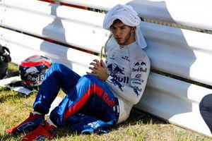 Pierre Gasly, Scuderia Toro Rosso, sur la grille
