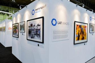 The Motorsport Images stand, incorporating displays from LAT Images, Sutton Images, Ercole Colombo, Rainer Schlegelmilch and Giorgio Piola