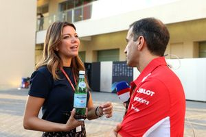 Federica Masolin, presentatrice Sky Italia e Marc Gene, Ferrari