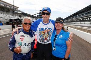 Mario Andretti, Robin Miller, Sarah Fisher