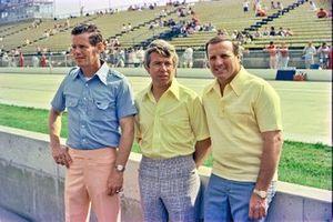 Front row: Bobby Unser, Gordon Johncock, A.J. Foyt