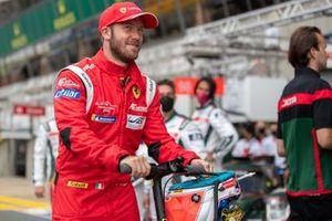 Sam Bird #51 AF Corse Ferrari 488 GTE EVO LMGTE Pro in Davide Rigon fire suit