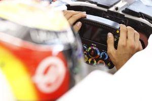 Haas VF-21 steering wheel detail
