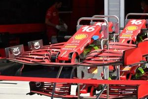 Front wing detail of a Ferrari SF21