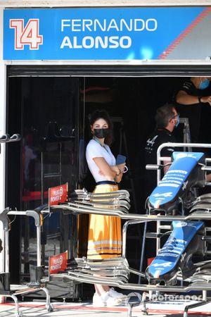 Fernando Alonso's partner Linda Morselli