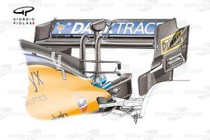 Заднее антикрыло McLaren MCL35M, Гран При России