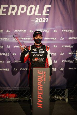 Le poleman Kamui Kobayashi, Toyota Gazoo Racing
