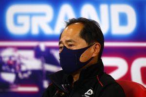 Toyoharu Tanabe, F1 technisch directeur, Honda, in de persconferentie