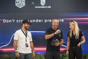 Massimiliano Montagnese, Team Malucelli alla premiazione Tag Heuer