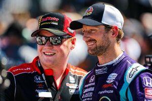 Romain Grosjean, Dale Coyne Racing with RWR Honda with fan