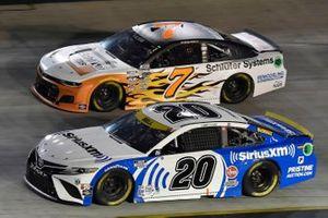 Christopher Bell, Joe Gibbs Racing, Toyota Camry SiriusXM and Corey LaJoie, Spire Motorsports, Chevrolet Camaro Schluter Systems