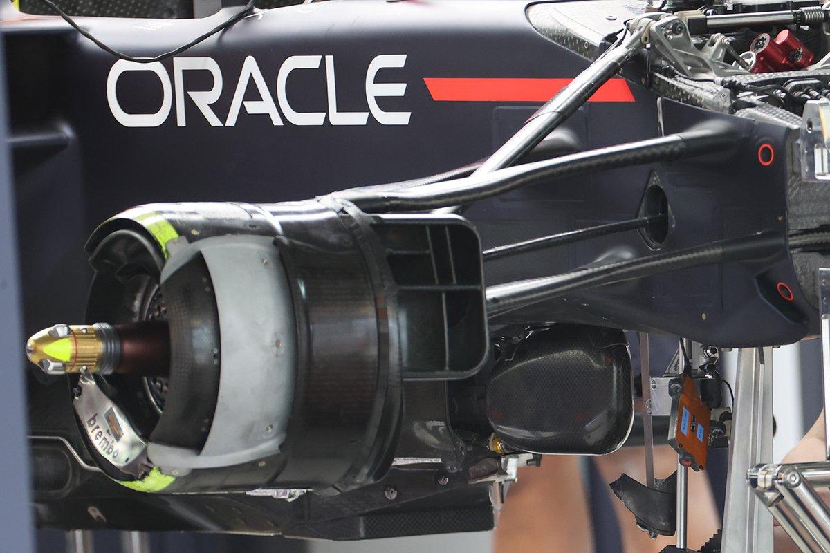 Red Bull Racing RB16B front brake drum detail
