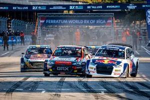 Start action, Niclas Grönholm, GRX-SET World RX Team Hyundai i20, Johan Kristoffersson, KYB EKS JC Audi S1