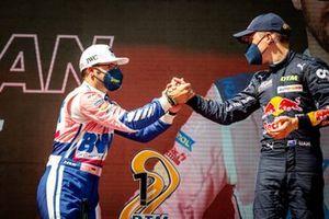 2. Maximilian Götz, Haupt Racing Team, 3. Liam Lawson, AF Corse