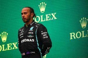 Lewis Hamilton, Mercedes, 3rd position, on the podium