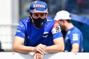 Fernando Alonso, Alpine F1 on the drivers parade