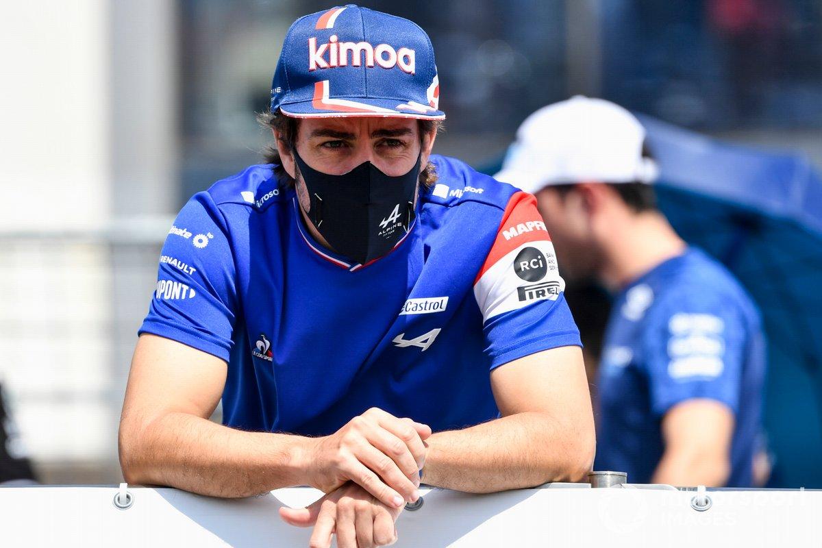 Fernando Alonso, Alpine F1 en el desfile de pilotos