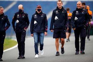 Max Verstappen, Red Bull Racing walks th track