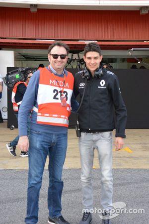 Esteban Ocon, collaudatore Renault, con il giornalista Roberto Chinchero