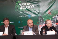 (L to R) Gerard Neveu, CEO WEC; José Abed, Vice president FIA México; Jean Todt, FIA President