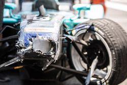 Nelson Piquet Jr., NEXTEV TCR Formula E Team car after crash