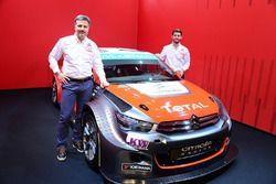 Yvan Muller und Jose Maria Lopez mit dem Citroën C-Elysee WTCC, Citroën World Touring Car Team
