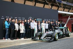 The Mercedes AMG F1 W07 Hybrid is unveiled